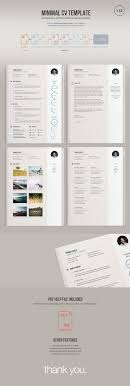 17 best ideas about creative resume templates a minimal easy to edit resume template version comes in illustrator vector ai