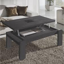 Table Basse Relevable Grise Centre Verre Mobilier