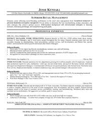 Resume Objective Examples For Retail 36 Manager Templates Free Of