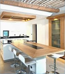 Plan De Travail Avec Table Coulissante Beau Ilot Avec Table Integree
