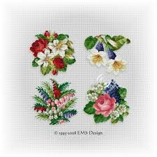 Cross Stitch Flower Patterns Awesome Cross Stitch Patterns By EMS Design The Floral Collection