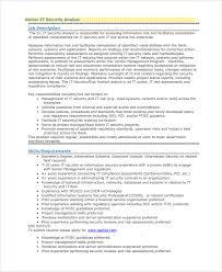 Best Solutions of Sample Resume For Information Security Analyst For Your  Resume Sample