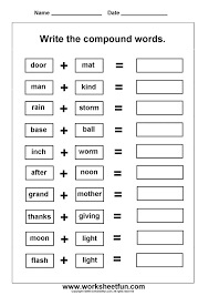 Thanksgiving Compound Word Worksheets Worksheets for all ...