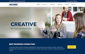 Business Website Templates Fascinating Acura Business Bootstrap Website Template WebThemez