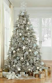 Gold and silver christmas trees