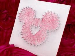 Diy String Art Diy Mickey String Art This Fairy Tale Life