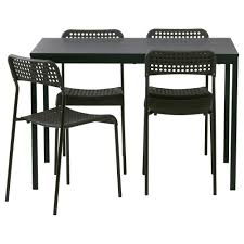 black furniture ikea. ikea trendadde table and 4 chairs black furniture ikea d
