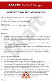 Sales Contract Template Awesome Sale Of Personal Goods Contract Create A Sale Contract For Goods