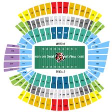 Browns Seating Chart Paul Brown Stadium Cincinnati Oh Seating Chart View