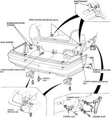 95 accord repair manual repair guides exterior bumpers