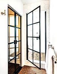 black steel framed shower doors superhuman door mariavoloh com interior design 16