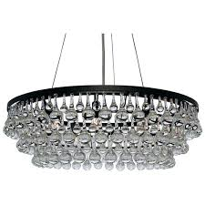 round crystal chandelier hanging from ceiling of a hall stock photo image glass dewdrop 5