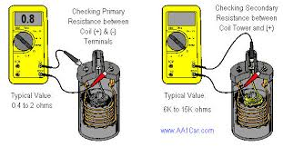 how to diagnose and test an ignition coil checking coil primary and secondary resistance ohmmeter