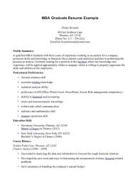 Mba Resume Sample | Sample Resume And Free Resume Templates
