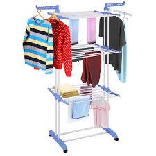 3 Tier Clothes Dryer Rack Foldable Laundry Drying Hanger Airer Compact  Storage Steel Indoor Outdoor - Walmart.com