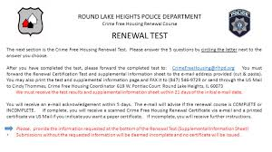 Crime Free Multi Housing On Line Renewal Course Presented And