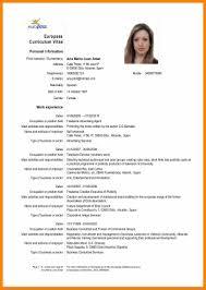 European Curriculum Vitae Format Unique European Cv Ana M Juan Amat
