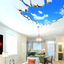 3d wall decals india creative stickers home decor mural art removable sky landscape cod decal 3d wall decals india