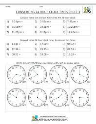 Military Time Conversion Hour Clock 3 Converter Card