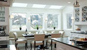 ... Wonderful Image Of Home Interior Decoration Using Bay Window Cushions  Seat : Outstanding Image Of Dining ...