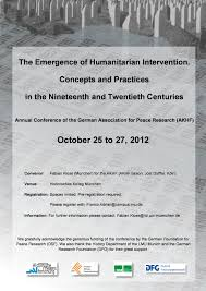research topics part humanitarianism and intervention  poster