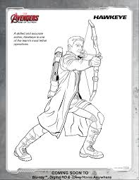 Marvels Avengers Age Of Ultron Disney Movies Coloring Page