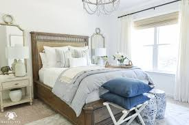 one room challenge blue and white guest bedroom reveal before and after makeover blue and