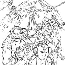 Small Picture X MEN coloring pages 14 free superheroes coloring sheets