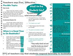 Teacher Brochure Example Bootalk It Developing A Booktalk Program To Network With Area
