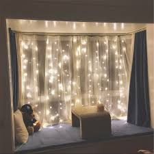 Curtain String Led Lights Led Window Curtain String Lights For Home Decor Rowe Lighting
