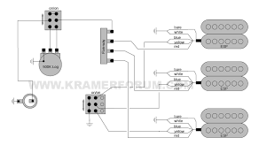 kramer wiring diagrams welcome to the kramer forum 1988 us sambora signature hhh seymour duncan pickups 5 way 2 coil taps bridge amp middle