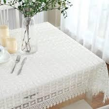 senarai harga pure white lace table cloth minimalist modern table cloth household tablecloth rectangular table mat cover european style fabric terbaru di