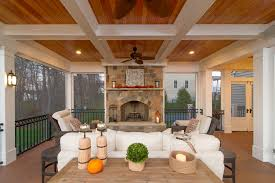 screened in porch with fireplace. Popular Screened Porch With Fireplace For The Vintage Wren Porches Fireplaces In O