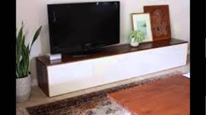 diy modern tv stand build floating wall for tv diy