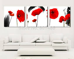 black and red poppies flower canvas wall art painting canvas print for home decor bedroom living room drop shipping on red poppy flower wall art with online shop black and red poppies flower canvas wall art painting