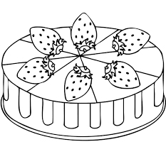 Small Picture Strawberry cake coloring pages ColoringStar