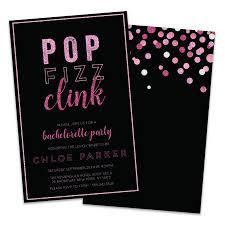 Personalized Pop Fizz Clink Bachelorette Party Invitations