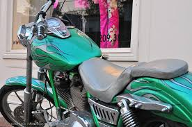 motorcycle with custom paint job