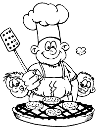 Restaurant Coloring Page Restaurant Chef Coloring Pages