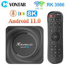 X88 PRO 20 TV Box Android 11 8GB RAM 128GB 4GB 64GB 32GB Rockchip RK3566  Support Google Assistant Youtube X88PRO Media Player|Set-top Boxes