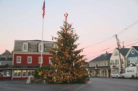 Christmas Prelude Christmas tree in Kennebunkport Maine Dock Square