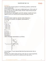 ncert solutions for class 10 maths chapter 3 pair of linear equations in two variables free pdf