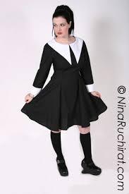plus size wednesday addams costume gothic lolita dress wednesday addams dress aline black with white