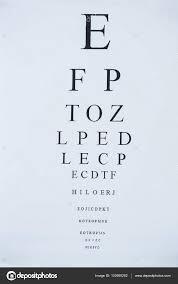 Alphabet Eye Chart Eye Chart With Alphabet Stock Photo Wavebreakmedia