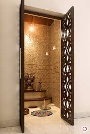 Pooja Mandir Designs For Home In Hyderabad Luxurious Intricate Latticework For Pooja Rooms