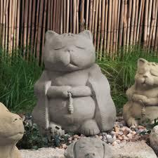 cat garden statue. Zen Cat Garden Sculpture Statue R