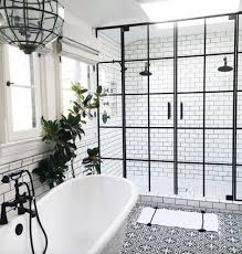 Black And White Patterned Floor Tiles Unique 48 Beyond Stylish Bathrooms With Patterned Encaustic Tile Bathroom