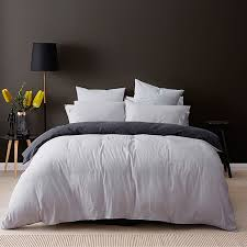 Grey Linen Cotton Quilt Cover Set   Target Australia & Enlarge Adamdwight.com