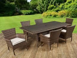 cool garden furniture. Garden Furniture \u2013 Cool Cambridge 6 Rattan Chairs And Rectangular Table Set In .