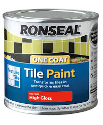 Red Tile Paint For Kitchens Ronseal Tile Paints Rose High Gloss Tile Paint 250ml Departments